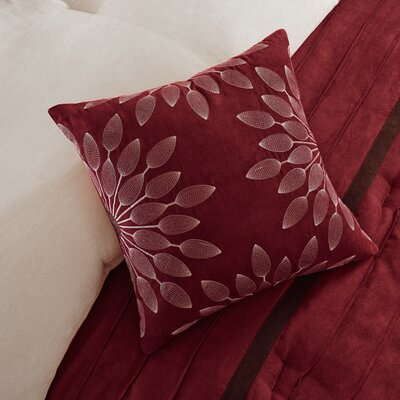Caleb 7 Piece Comforter Set Size: Queen, Color: Red