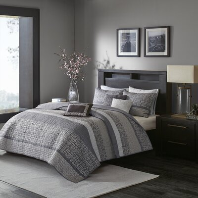 Ella 6 Piece Coverlet Set Size: Full/Queen
