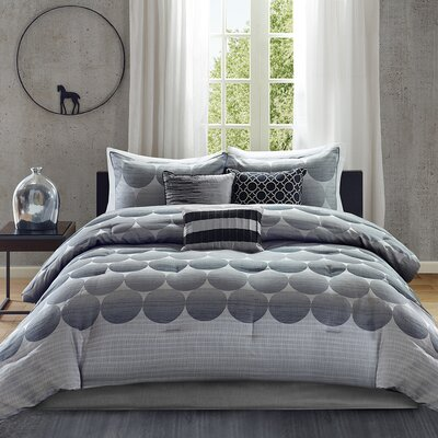 Devin 7 Piece Comforter Set Size: King
