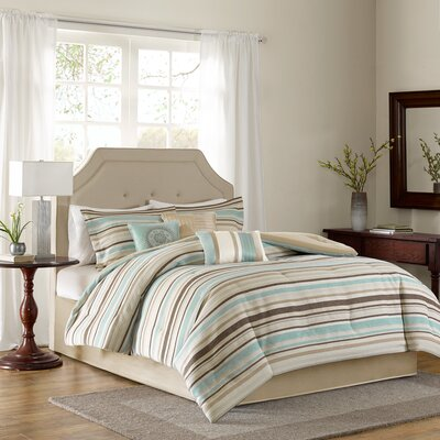 Ewan 7 Piece Comforter Set Size: King
