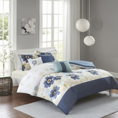 Andie 6 Piece Duvet Cover Set Size: King/California King