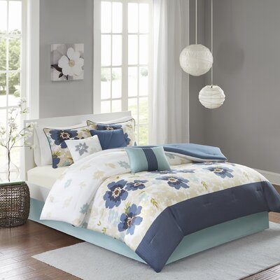 Andie 7 Piece Comforter Set Size: King