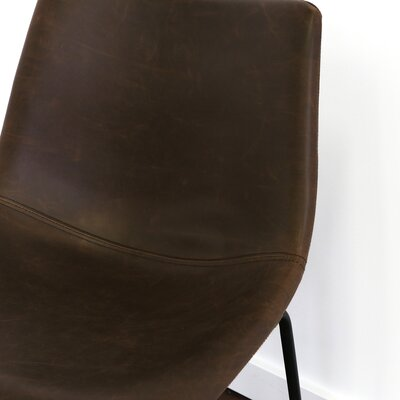Mary-Kate 26 Bar Stool Color: Black, Upholstery: Brown