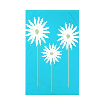 Tammi Floral Print Polyester Fleece Throw Blanket Size: 60 L x 50 W x 0.5 D, Color: Caribbean