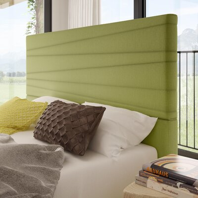 Rafael Upholstered Panel Headboard Color: Green, Size: Queen