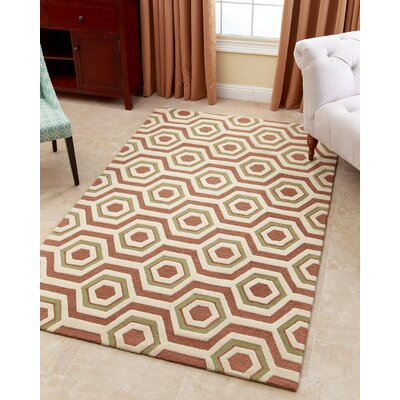 Randi Hand-Tufted Tawny Brown Area Rug Rug Size: 5 x 8