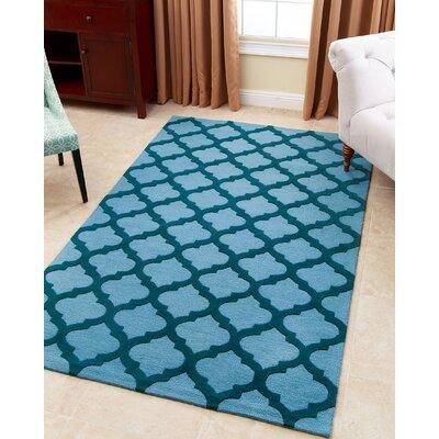 Raul Hand-Tufted Ocean Blue Area Rug Rug Size: 5 x 8