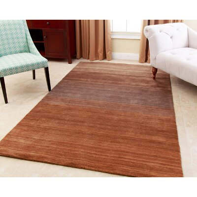Julian Hand-Tufted Tan Area Rug Rug Size: 3 x 5