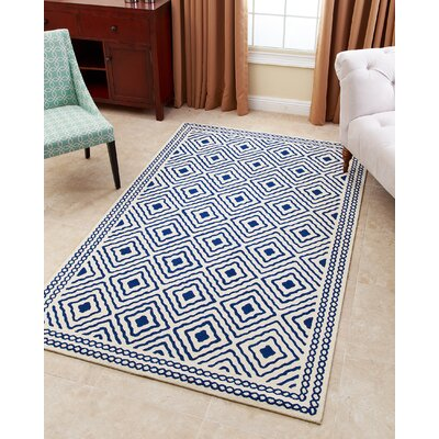 Karl Hand-Tufted Royal Blue Area Rug Rug Size: 3 x 5