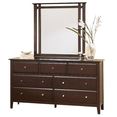 Kaitlin 7 Drawer Dresser with Mirror