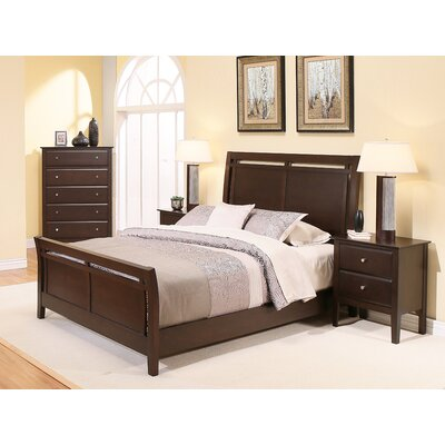 Kaitlin Sleigh 4 Piece Bedroom Set Size: King