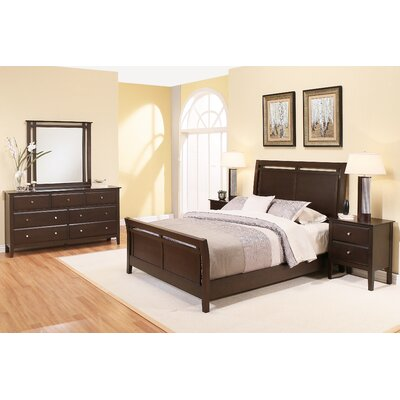 Kaitlin Sleigh 5 Piece Bedroom Set Size: King