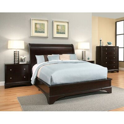 Juliana Sleigh 4 Piece Bedroom Set Size: King