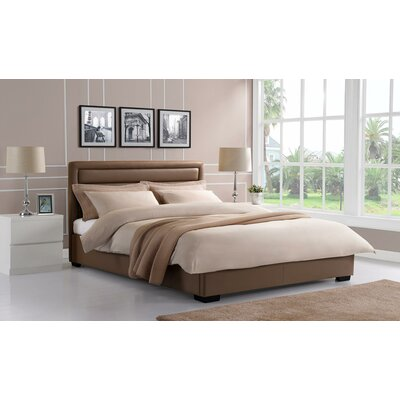 Katharine Upholstered Panel Bed Size: Full, Upholstery Color: Taupe