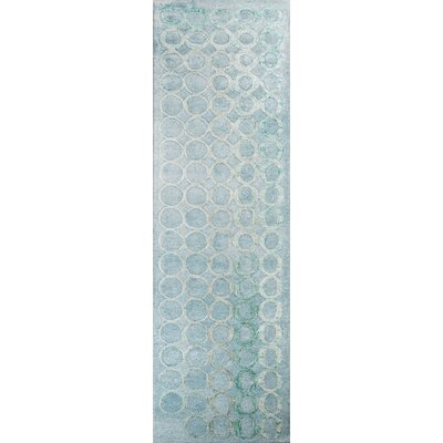 Jayla Hand-Tufted Blue Area Rug Rug Size: Runner 23 x 8