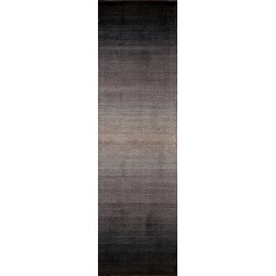Gilda Hand-Tufted Midnight Black Area Rug Rug Size: 33 x 53