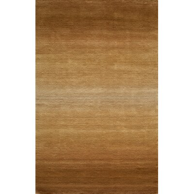 Gilda Hand-Tufted Light Brown Area Rug Rug Size: 5 x 8