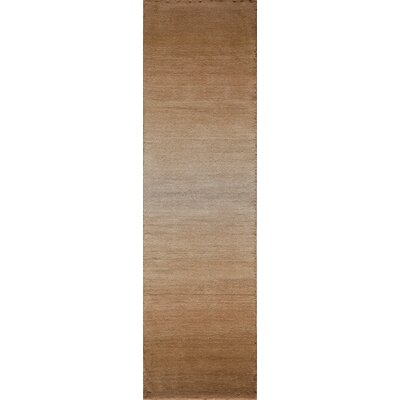 Gilda Hand-Tufted Light Brown Area Rug Rug Size: Runner 23 x 8