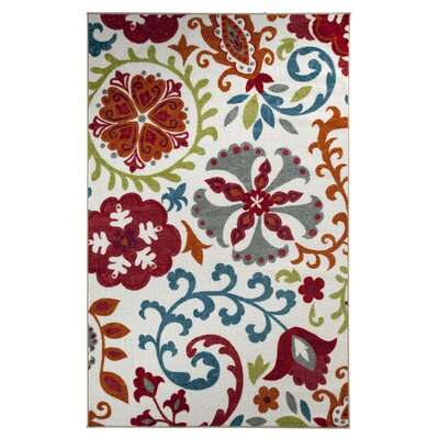 Rae Idas Garden Multi Printed Area Rug Rug Size: Rectangle 7'6