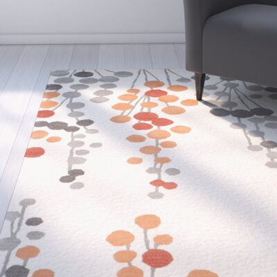 Chubbuck Beige/Orange Area Rug Rug Size: 2 x 3