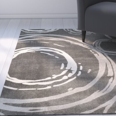 Jud Dark Gray Area Rug Rug Size: Runner 24 x 9