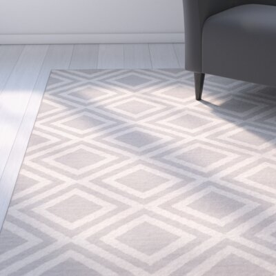 Brianna Grey/Ivory Area Rug Rug Size: Runner 26 x 8