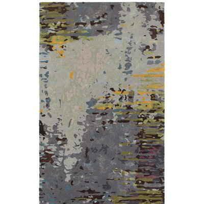 Wora Hand-Crafted Gray Area Rug Rug Size: 36 x 56