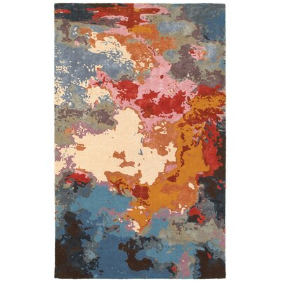 Wora Hand-Crafted Pink Area Rug Rug Size: Rectangle 36 x 56