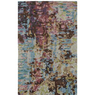 Wora Hand-Crafted Blue Area Rug Rug Size: Rectangle 36 x 56