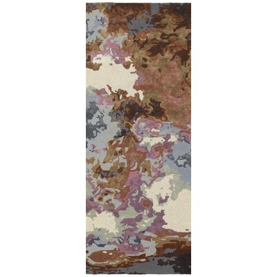 Wora Hand-Crafted Blue/Brown Area Rug Rug Size: Runner 25 x 8