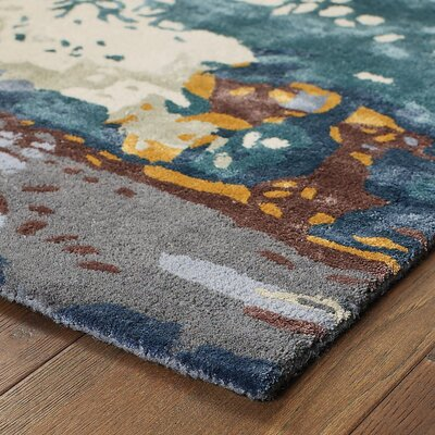 Wora Hand-Woven Blue Area Rug Rug Size: Rectangle 10 x 1211