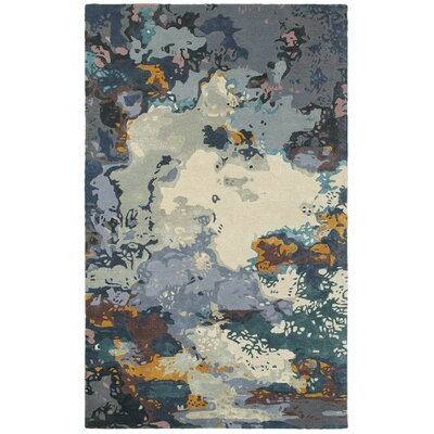 Wora Hand-Woven Blue/Gray Area Rug Rug Size: 10 x 1211