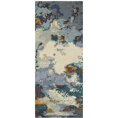 Wora Hand-Woven Blue/Gray Area Rug Rug Size: Runner 25 x 8