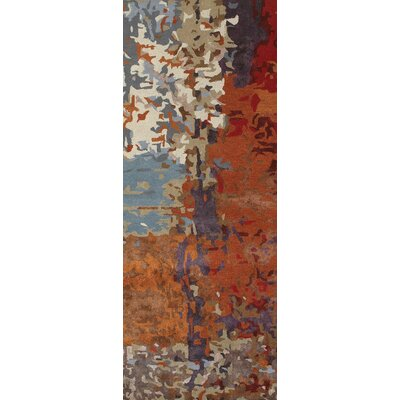 Wora Hand Woven Orange Area Rug Rug Size: Runner 25 x 8
