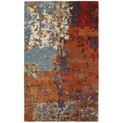 Wora Hand Woven Orange Area Rug Rug Size: 8 x 10