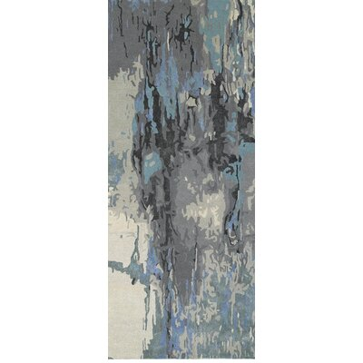 Wora Hand-Crafted Blue/Gray Area Rug Rug Size: Runner 25 x 8