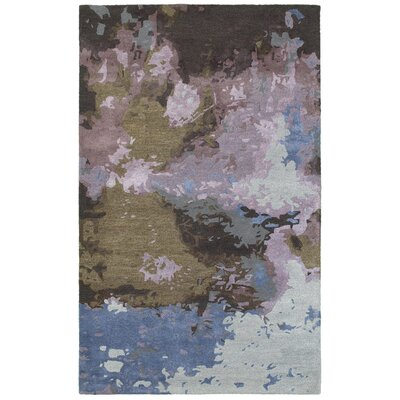Wora Hand-Crafted Blue/Purple Area Rug Rug Size: Rectangle 36 x 56