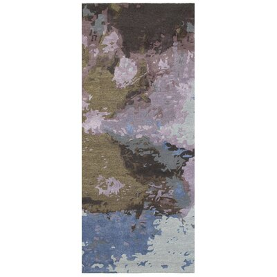Wora Hand-Crafted Blue/Purple Area Rug Rug Size: Runner 25 x 8