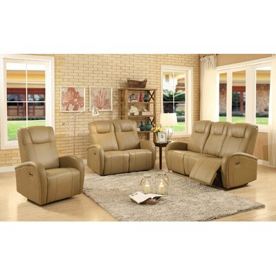 Lance 3 Piece Power Reclining Living Room Set Upholstery: Sand