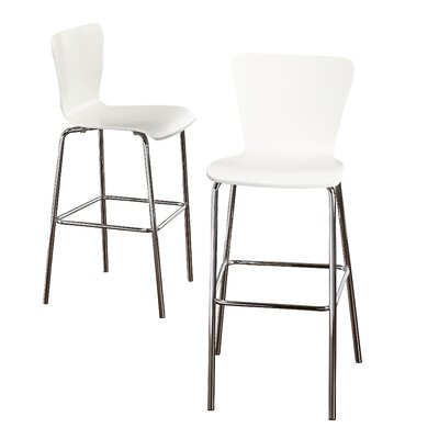 Ivan Bar Stool Finish: White