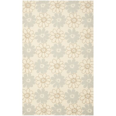 Grayson Ivory/Light Blue Outdoor Area Rug Rug Size: 5 x 8