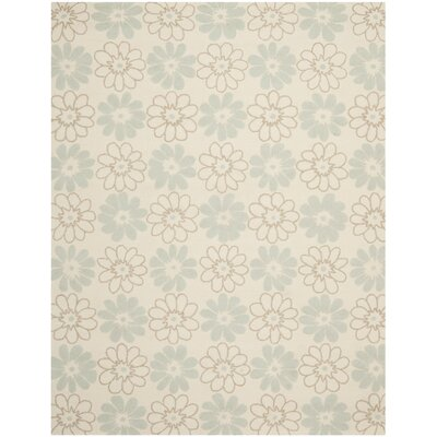 Grayson Ivory/Light Blue Outdoor Area Rug Rug Size: Rectangle 8' x 10'