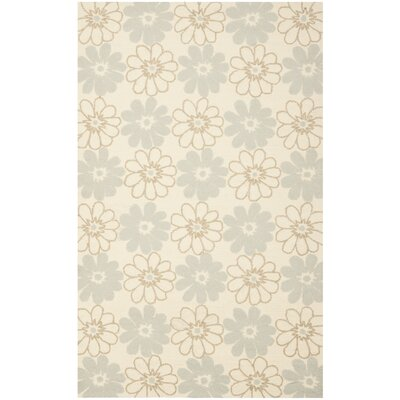 Grayson Ivory/Light Blue Outdoor Area Rug Rug Size: Rectangle 3'6