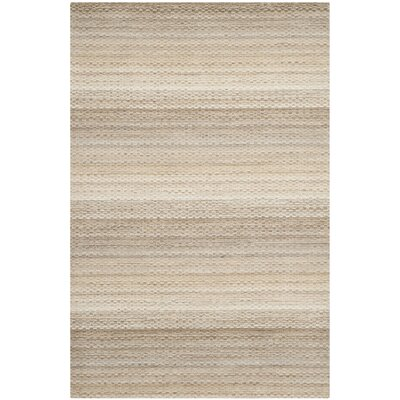 Keith Beige Stripes Area Rug Rug Size: 4 x 6