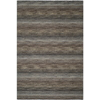 Keith Grey Stripes Area Rug Rug Size: 6 x 9