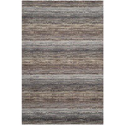 Keith Grey Stripes Area Rug Rug Size: 4 x 6