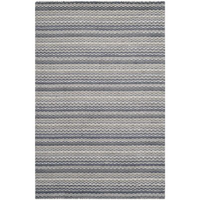Keith Grey Area Rug Rug Size: Rectangle 4 x 6