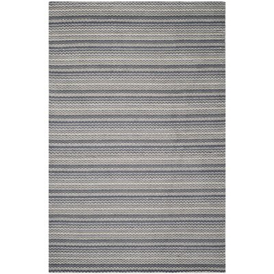 Keith Grey Area Rug Rug Size: 6 x 9