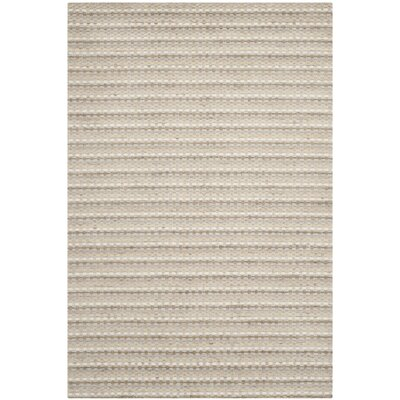 Keith Beige Stripe Area Rug Rug Size: Rectangle 4 x 6