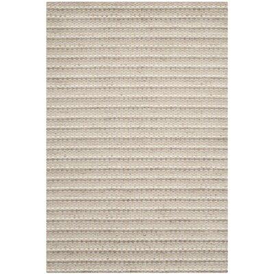 Keith Beige Stripe Area Rug Rug Size: 5 x 8